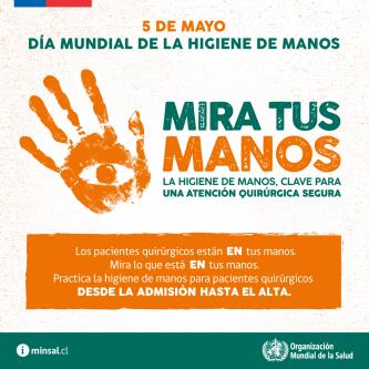5 de Mayo. Día mundial del lavado de manos